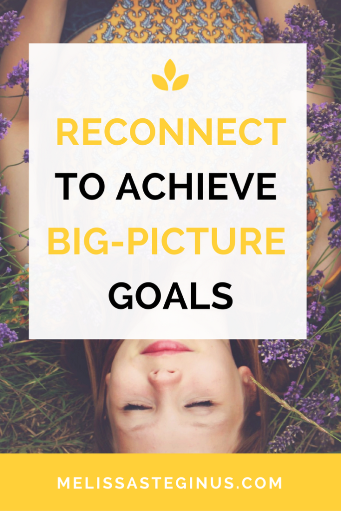 reconnect, achieve big picture, goals, self-aware