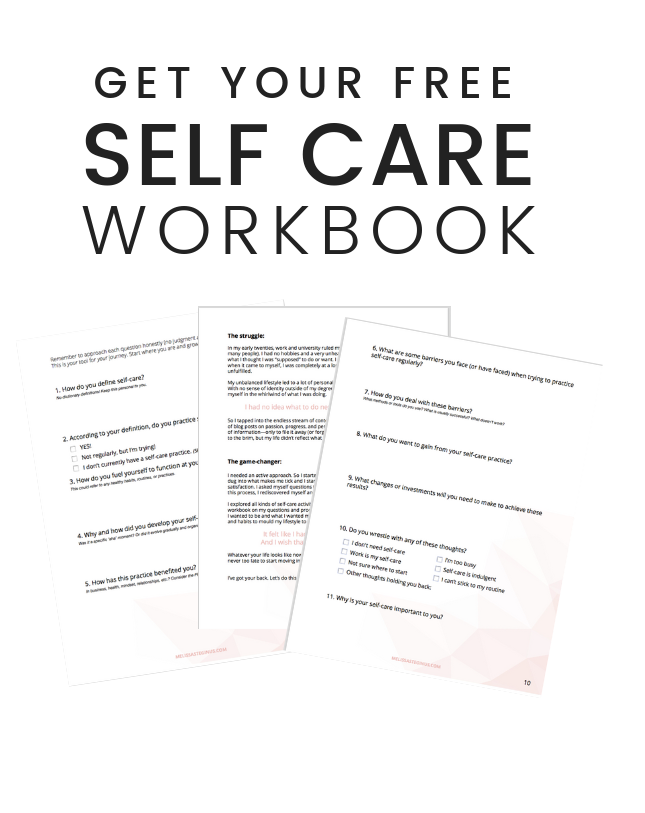 Subscribe for your Self Care Workbook - Melissa Steginus ...